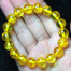 vòng tay đá hổ phách vàng